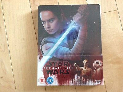 Star Wars The Last Jedi 3D Blu Ray Steelbook - UK Exclusive Limited Edition, OOS