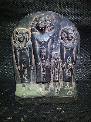 EGYPTIAN ARTIFACT ANTIQUITIES Family Group Sculpture Stela Relief 1850-1800-BC
