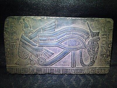 EGYPTIAN ARTIFACT ANTIQUITIES Eye Of Horus Stela Fragment Relief 500-300-BCE