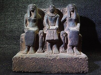 EGYPTIAN ARTIFACT ANTIQUITIES Priest Ptahmai Family Sculpture 1303-1213-BC