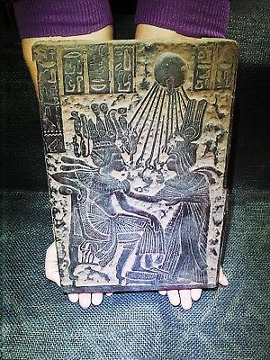EGYPTIAN ARTIFACT ANTIQUITIES Tutankhamun Throne Stela Relief 1365-1310-BC
