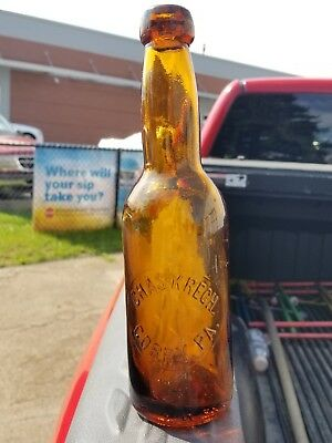 Vintafe Chas Krech Amber Pint Blob Top Beer Bottle Corry Pa Beautiful Bottle