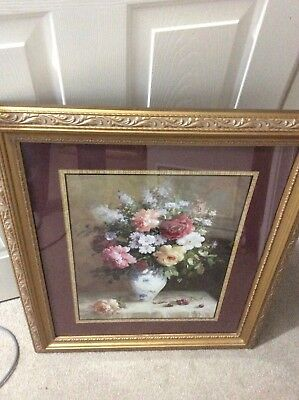 Home Interior / Homco Set Of 2 Matching Pictures Vases Of Flowers