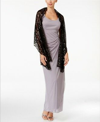 IMAN Sparkle Shine Slinky Sequined Wrap Scarf ALMOST WHITE New with Tags 77x12