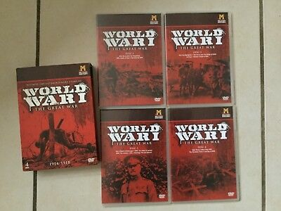World War 1 The Great War 4 Disc Dvd Box Set Watched Once! 1914-1918 V.g.c.