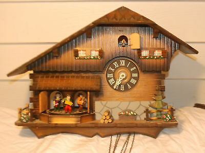 Vtg Schmeckenbecher Cuckoo Clock Germany Chalet Parts Repair Restore