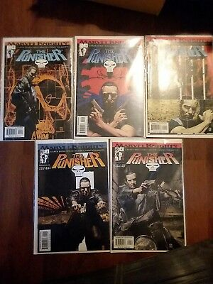 "The punisher lot"" Vol 5""  = #1,#2,#3,#4,#5. NM marvel knights"