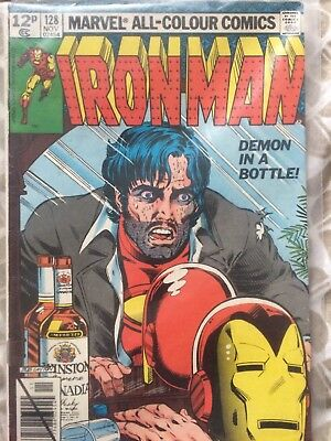 Iron Man Alcoholism Demon In A Bottle #128 VF Near Mint Condition Grade (8.0)