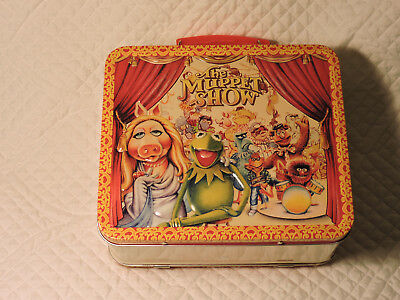 The Muppet Show Metal Lunch Box Miss Piggy & Kermit Used Excellent Condition!