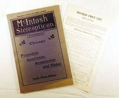1917 ORIGINAL McIntosh Magic Lanterns, Apparatus, Accessories, Slides Catalog ++
