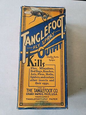Vintage Tanglefoot Fly Spray Outfit Grand Rapids Michigan Bug Killer Fly Paper