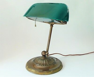 Antique EMERALITE 8374 Desk Lamp – Original Daylight Screen – Must See