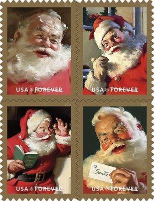 *NEW* 2018 Sparkling Holidays Coca-Cola Santa (Bklt Blk of 4) MNH  *In Stock*