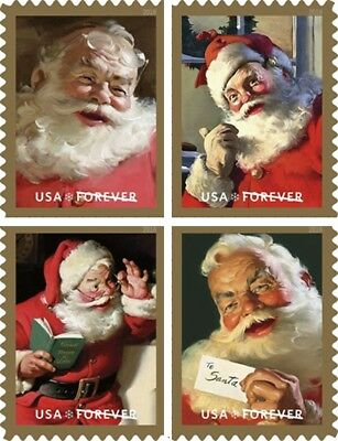 *NEW* 2018 Sparkling Holidays Coca-Cola Santa (Bklt Sgls Set of 4) MNH*In Stock*