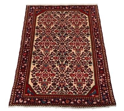 Jozan 155 x 107 cm Hand-Knotted Middle Eastern Rug Persian Bridge Blumenmuster