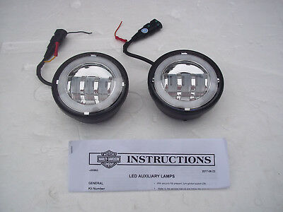 "Harley Angel Eye 4 1/2"" LED Spot Lamp Replacements Fits HD Spotlights"