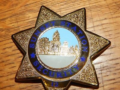 Vintage Sunset Station Hotel Casino Security Officer Nevada  By Blackinton
