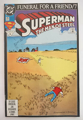Dc   Superman The Man Of Steel   Nr. 21 (1993)   Funeral For A Friend/7   Z 1+