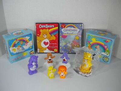 Lot Of 10 Assorted Care Bear Pieces - DVDs, Puzzles and Toys - Free Shipping!!