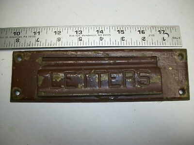 Vintage Brass Bronze Letters Mail Door Slot Mailbox Cover