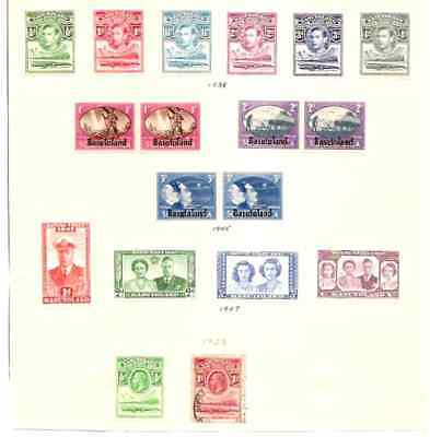 Basutoland Collection On 17 Mint 1 Used