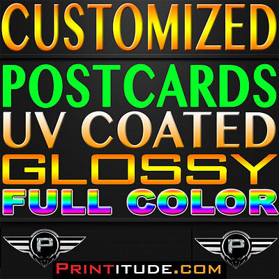 250 8.5x5.5 POSTCARDS PERSONALIZED CUSTOM FULL COLOR 2 SIDE 14PT GLOSS FLYER