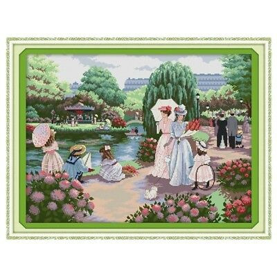 A FAMILY OUTING cross stitch kit 14 ct size 61 x 48 cm BNIP JOY SUNDAY