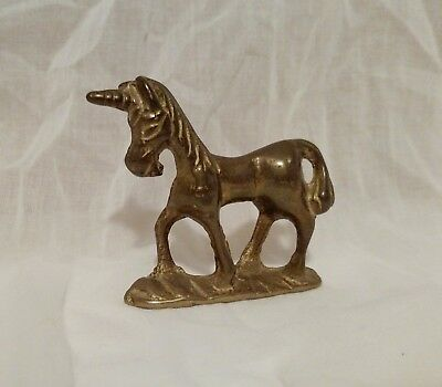 Vintage 1980s Solid Brass Metal UNICORN JB Made in Taiwan Figurine