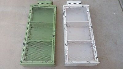 Vintage Apothecary Cabinets X2! Metal; Wall Mount; 35 X 13.5 X 5.5 Inches! WOW!