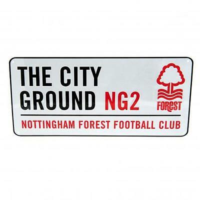Nottingham Forest FC Official Crested Metal Street Sign The City Ground NG2