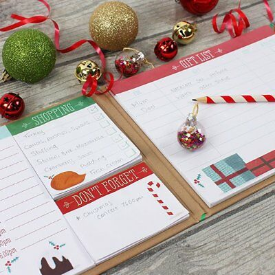 Christmas Organiser Planner Book, Sticky Notes, To Do Lists Gift Ideas Note book