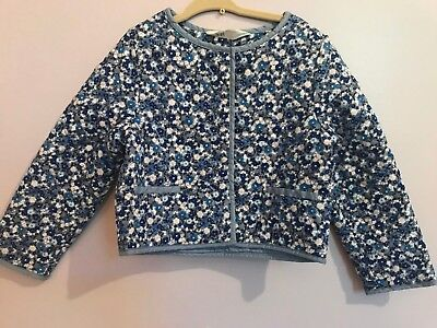 H&M LOT 3-4 Girls Floral Quilt Jacket + 4-5 White Angel Dress in Good Condition