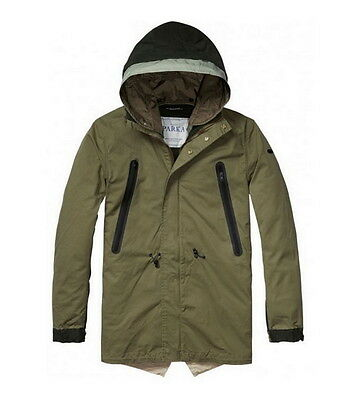 Scotch /& Soda green full zip cotton jacket  rrp £158.99