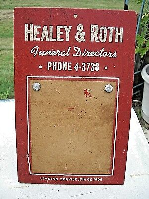 Antique cardboard funeral home advertisement 1905 Leading Service Calendar
