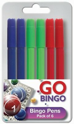 Bingo Markers Dabbers Pens Coloured Set Felt Green Red Blue 1,12,24