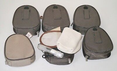 Lot of 7 Emirates Airlines Small Travel Amenity Toiletry Purse Zip Kit Bag