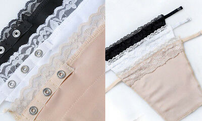 Pack of 3 Snap on Cleavage Cover! Instant Camisole Appearance. Lace. Breathable