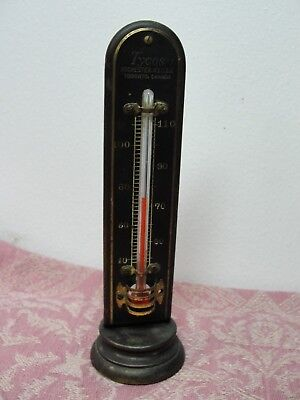 Antique Tycos Brass Desktop Room Fahrenheit Thermometer Toronto & Rochester, NY
