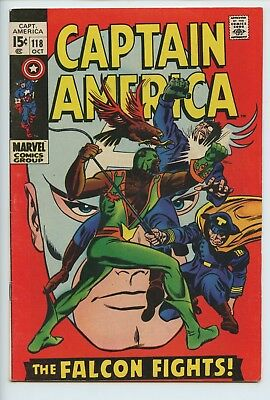 1969 Marvel Captain America #118 (2) 2Nd Appearance Of The Falcon Vf  S1