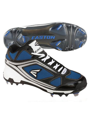 Easton Phantom Md Team Schwarz / Blu Herren Metall Baseball Stollenschuhe Us 8.5