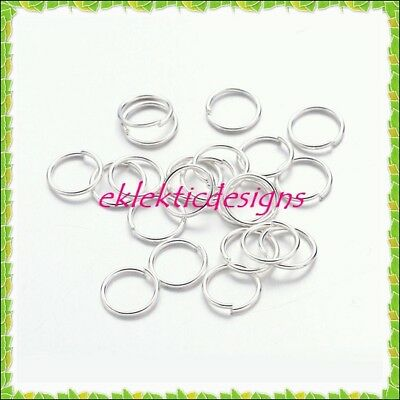 NEW Wholesale Mixed Lots Silver Plated Open Jump Rings 6x0.7mm GW