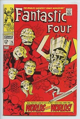 1968 Marvel Fantastic Four #75 Galactus & Silver Surfer Appearance  Vf-  S3