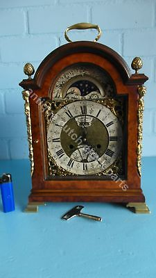 Super Dutch Bracket Clock Marked John Smith London With Calendar