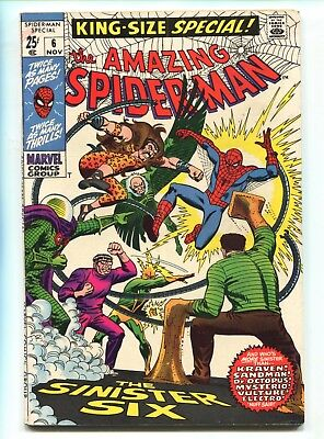 1969 Marvel The Amazing Spider-Man King-Size Annual #6 Sinister Six Fine E3