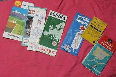 Western Europe and Vienna Vintage map Shell 1964- 1966