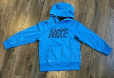 Brand NEW - Nike Boy's Therma-Fit blue sweatshirt hoodie size small