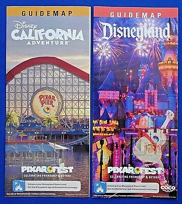 Disneyland and California Adventure PIXAR FEST 2018 Guide Map set 2nd edition