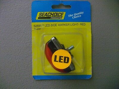 Seachoice LED side marker light red 52691