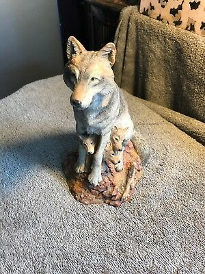 Timid Trio Wolves of the Wilderness Hamilton Collection Wolf