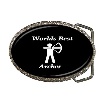 Worlds Best Archer Archery Belt Buckle - Great Gift Item